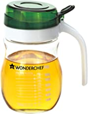 Wonderchef Glass Oil Pourer, 550ml, Transparent/Green