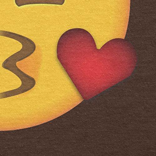 Texlab–Blow Kiss Emoji–sacchetto di stoffa Marrone