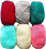 #5: Vardhman Bunny Mix Wool ball hand knitting yarn / art craft soft fingering crochet hook yarn, needle knitting yarn thread dyed 3rd…