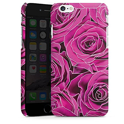 Apple iPhone X Silikon Hülle Case Schutzhülle Roses Pink Grafik Premium Case matt