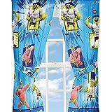 4piezas Bob Esponja de Nickelodeon Bob Esponja Película Juego Sr. Impresionante ventana paneles cortinas y alzapaños