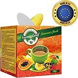 Grüner Tee - Lockere Gunpowder Bio-Tee - Natürliche Grüner Tee - Sunny Leaf Früchtetee