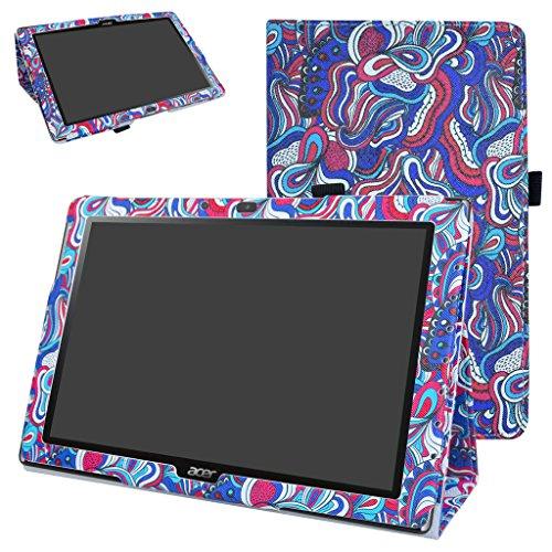 Acer Iconia One 10 B3-A40 Custodia,Mama Mouth slim sottile di peso leggero con supporto in Piedi caso Case per 10.1' Acer Iconia One 10 B3-A40 Android Tablet PC,Mushroom Fantasy