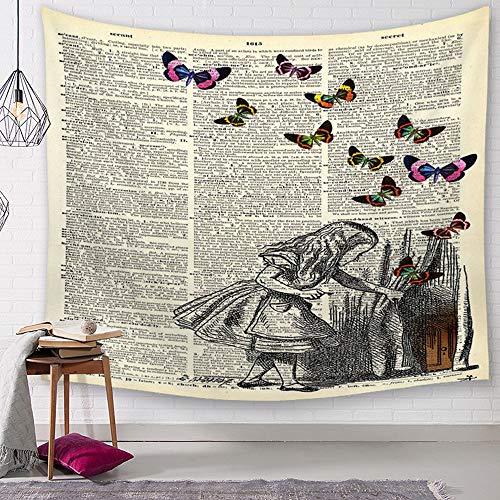serie Halloween, Bunt/Frau/Nationaler Stil Wandteppich Tapestry Motiv Wandbehang aus Polyster Wandtuch Tischdecke Meditation Strandtuch Yogamatte (Klein (130 x 150cm), Zeitung) ()