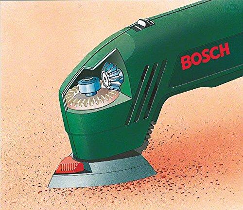 Bosch DIY Deltaschleifer PDA 180, 3 Schleifblätter, Karton (180 W, Schwingzahl 18.400 min-1, Schleifplattenmaß über Eck 92 mm, Schwingkreis-Ø 1,5 mm) - 2