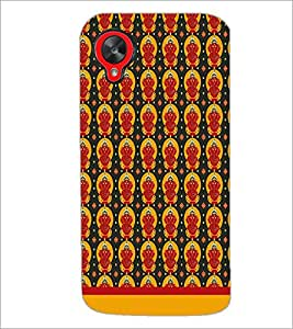 PrintDhaba Lord Ganesh Pattern D-1551 Back Case Cover for LG GOOGLE NEXUS 5 (Multi-Coloured)