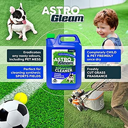 Jarder Astro Gleam Artificial Grass Cleaner - Concentrated Disinfectant & Deodoriser For Astroturf (5L) 2