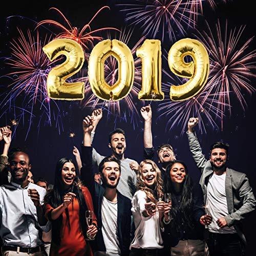 Zahlenballon Heliumballon Folienballon Happy New Year Silvester Deko Neujahr Silvesterparty 2019 (Silvester 2019 Dekoration Ideen)