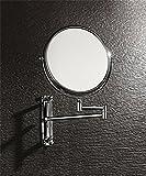 CAIJUN Kosmetikspiegel Badezimmer Eitelkeitsspiegel Hotel Doppelseitig Vergrößerungsglas Schönheitsspiegel Toilette Teleskop-Klappspiegel Wandmontierter Make-up-Spiegel Spiegels (Größe : 8 inches)