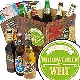 Bester Handwerker | Bier Geschenk | Biere aus aller Welt | Bester Handwerker | Biere der Welt | Geschenk für Hobbyhandwerker zum Geburtstag | GRATIS 6 Geschenk Karten + Umschläge, Bier-Bewertungsbogen + 3 Urkunden