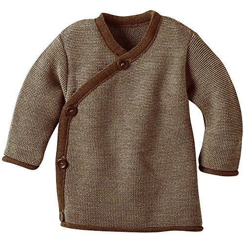 disana Baby/Kleinkinder Wickel-Jacke aus Bio-Merinowolle (50/56, haselnuß/grau melange)