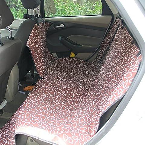 Cubierta de asiento de perro mascota viaje barrera y cinturones de seguridad con anclajes de asiento ajustable abierto impermeable , rear simple coffee clouds