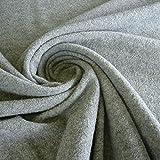 Stoff Wolle Gewirk hellgrau reine Wolle Walkloden Wirkloden grau