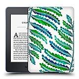 Head Case Designs Officiel Cat Coquillette Modèle De Feuille De Fougère Vert Bleu Tropical Étui Coque en Gel Molle pour Amazon Kindle Paperwhite 3