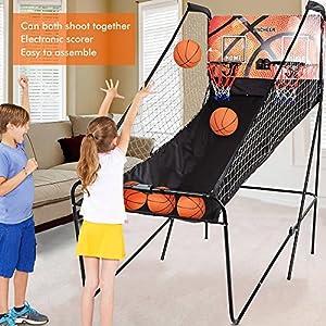 Ancheer Basketballkorb, Basketballständer für Kinder und Erwachsene, Doppel...