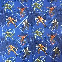 DC Marvel Elektrode–Neuheit Premium Grade 100% Baumwolle feines Gewebe Kinder Vorhang Betten Stoff 140cm breit, Meterware,