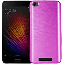 MOONCASE Xiaomi 5 Funda, Brushed Diseño Híbrido Doble Capa Soft TPU + Duro PC Back Panel Case Anti-Choques Carcasa para Xaomi MI 5 Rosa