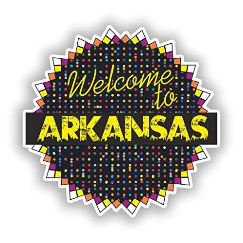 2x Welcome to Arkansas Vinyl Aufkleber Reise Gepäck # 7700 - 30cm/300mm Wide - Arkansas Vinyl