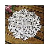 Aspire 4PCS 30,5cm beige Crochet Baumwolle Spitze Tischsets Deckchen Value Pack, baumwolle, B White, Einheitsgröße