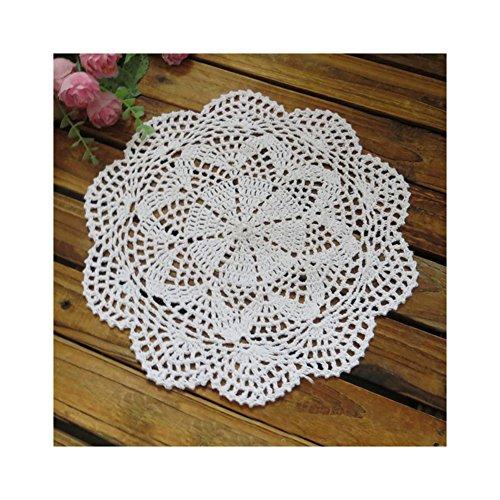 aspire 4 pcs 30,5 cm Beige napperons de Table au Crochet en Coton Value Pack, Coton, B White, Taille Unique