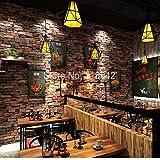 Weinlese-SteinBacksteinmauer-Tapete PVC-Rolle 3D wasserdichtes Restaurant-Raum-Schreibtisch-3D Tapete