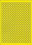 1.170 Etiketten Farbetiketten selbstklebend rund 12 mm GELB permanent klebend