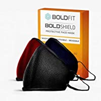 Boldfit Reusable Face Mask for Kids. Protect from pollution and germs. Reusable and Washable upto 30 days. Easy Breathable (Kids Mask Pack of 3)