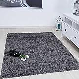 VIMODA Prime Shaggy Teppich Farbe Anthrazit Hochflor Langflor Teppiche Modern für Wohnzimmer Schlafzimmer 160x220 cm