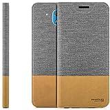 zanasta Designs Tasche HTC Desire 526G Hülle Flip Case Slim Schutzhülle Handytasche mit Kartenfach, Standfunktion | Grau