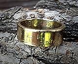 Coinring, Münzring, Ring aus Münze 1 Schilling Österreich 1981, Kupfer/Aluminium, sieht aus wie gold - Double Sided coin ring - Größe 53 (16.9), handgeschmiedetes Unikat