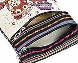 Fashion Embroidered Owl Tote Bags Women Shoulder Bag Handbags Postman Package by Kolylong (B)