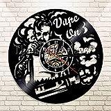 ACYKM Horloge Murale colorée en Vinyle 1 pièce Vape Horloge de Magasin Cigarette électronique...