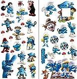 Les Schtroumpfs Stickers muraux enfants Chambre ? coucher gar?ons filles Art mural papier peint mural Grande taille