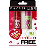 Maybelline New York Baby Lips Combo, Berry Crush, 4gwith Free Watermelon Smooth Lip Balm, 4g