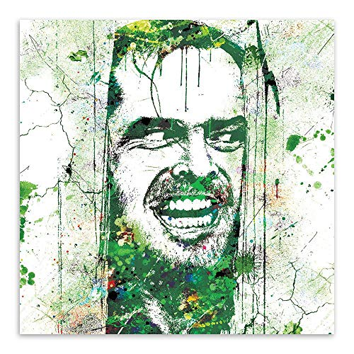 Ksks Ölmalerei Original Wasserfarbe blinkt Horror-Film Poster Creative Home Decoration Painting Core,Green