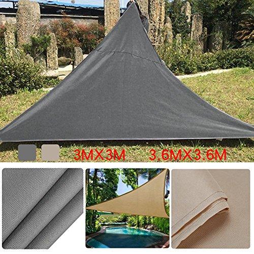 Auvent Triangle Voile d'ombrage Rectangulaire | 3*3m 3.6*3.6m Crème | Une Protection des Rayons UV | Toile d'ombrage Auvent Pare-soleil de Jardin
