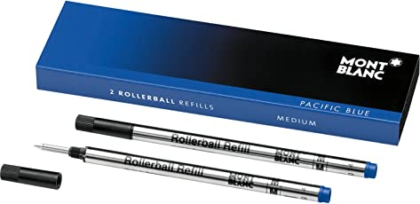 Mont Blanc Rollerball Refill, M 2X1, Pacific Blue (105159)