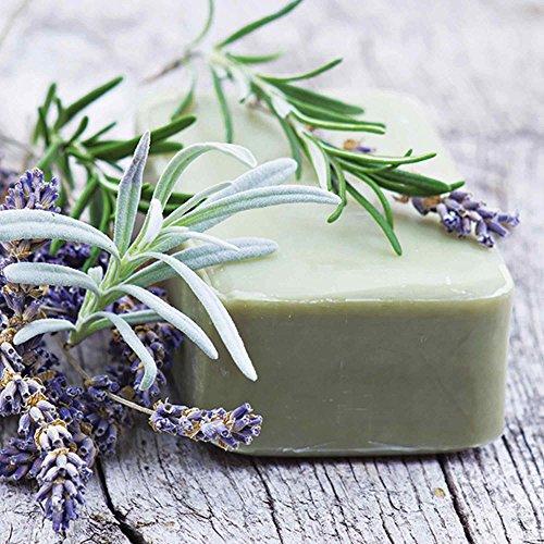 Lavendel-seife (Artland Qualitätsbilder I Glasbilder Deko Glas Bilder 30 x 30 cm Wellness Spa Foto Grün D1HK Stück natürlicher Seife mit Kräutern)