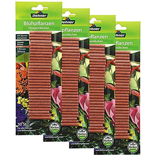 Dehner Düngestäbchen für Blühpflanzen, 4 x 30 Stück (120 Stück)