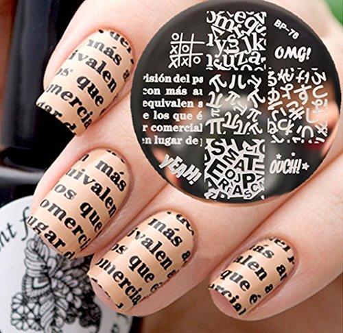 Nail Art Stamping Bild Metal Platte Nail Art Design Muster Vorlage Wörter - AP76 - FashionLife
