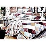 155x200 creme beige grau bordeauxrot mehrfarbig Bettwäsche Bettbezüge Bettwäschegarnituren 100% Baumwollsatin ein schönes Muster 87