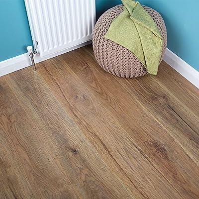 8mm - Bevel Edge Laminate Flooring - Orleans Oak - 2.22sqm - low-cost UK light shop.