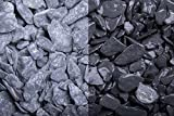 Kies Splitt Zierkies Edelsplitt Canadian Slate schwarz getrommelt, 15-30mm Sack 20 kg