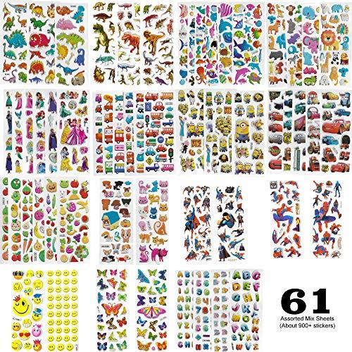 ögen gemischt süße 3D Puffy Kids Sticker selbstklebend wiederverwendbar Kinder Jungen Mädchen Geburtstag Party Gastgeschenke ()