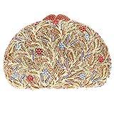 Bonjanvye Glitter Studded Flowers and Leaves Evening Bags for Girls Multicolor