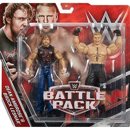 WWE Kampf Pack: Serie 43.5 Actionfigur - 'The Beast' Brock Lesnar Vs Dean Ambrose Tragen T-shirt -