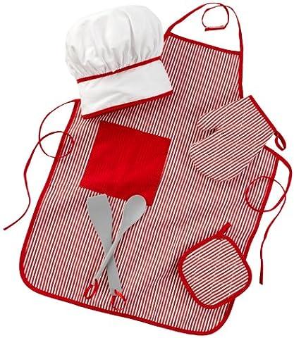 KidKraft - Ensemble d'accessoires Chef Gourmandises - Rouge