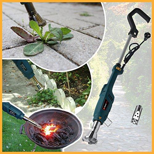 Désherbeur thermique éléctrique 2000W avec accessoire allume BBQ 3 en 1 - Désherbant écologique - Décapeur - Brûleur de mauvaises herbes - jardin bio.
