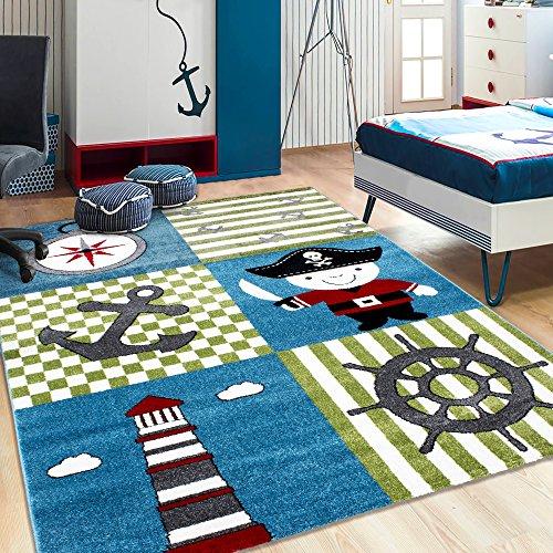 Kinder Teppiche_Wohnzimmer, Gästezimmer, Jugenzimmer Teppiche_KIDS0450MULTI_Spielteppich, Maße:120x170 cm