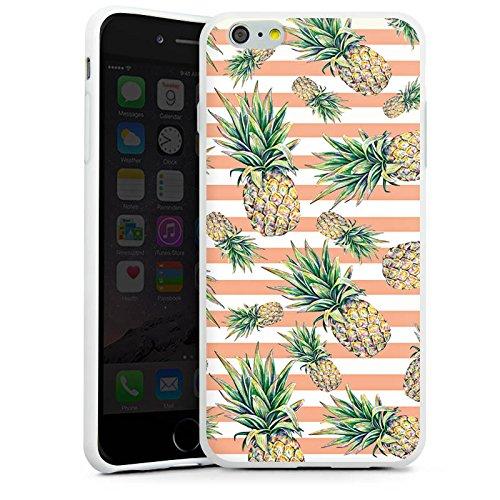 Apple iPhone X Silikon Hülle Case Schutzhülle Ananas Früchte Sommer Silikon Case weiß